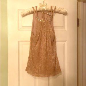 Pretty gold sleeveless dressy top